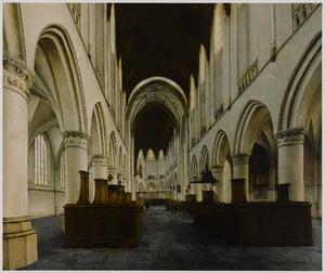 Interieur van de St. Bavo the Haarlem
