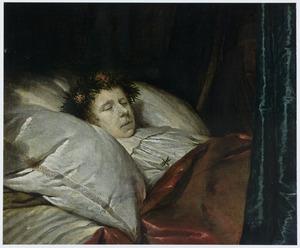 Portret van een overleden jonge man