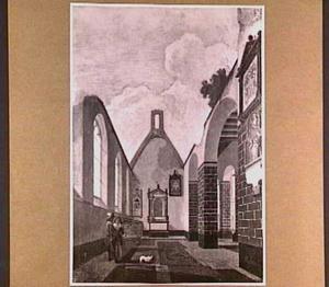 Interieur van de Antoniuskapel van de Janskerk te Utrecht tijdens
