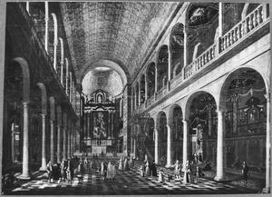 Interieur van de Jezuietenkerk H. Carolus Borromeus in Antwerpen