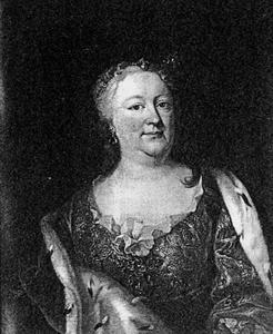 Portret van Antoinette Amalia van Brunswijk -Wolfenbuttel (1696-1762)