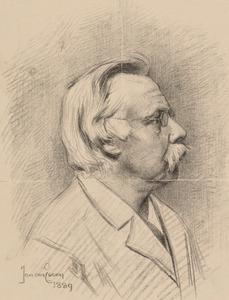 Portret van Leendert Alexander Johannes Burgersdijk (1828-1900)