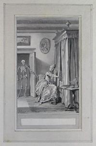 Illustratie bij 'De tederminnende vrouw' uit de Fabelen en vertelsels van F.C. Gellert