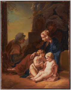De H. Familie met de HH. Elisabeth en Johannes de Doper als kind