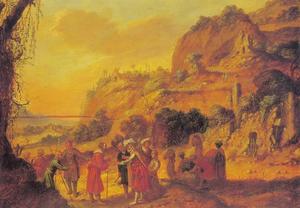 Jozef aan de Medianieten verkocht naar Egypte (Genesis 37:28)