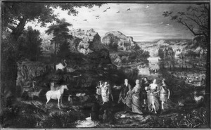 Noach en zijn familie en de dierenmaken zich op om de ark in te gaan  (Genesis 7:7-9)