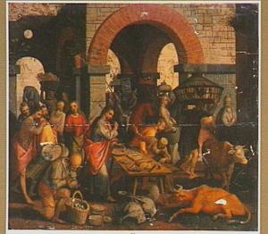 Christus verjaagt de geldwisselaars uit de tempel