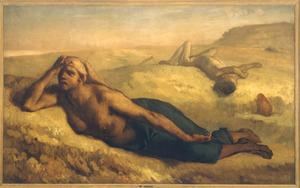 De vertwijfelde Hagar en Ismael in de woestijn (Genesis 21:15-16)