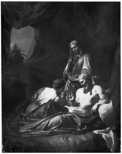 De vernedering van Hagar: Abram [Abraham] geeft Hagar over aan Sarai [Sarah] (Genesis 16:5-8)