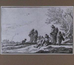 Figuren in landschap