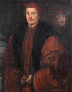 Portret van Otto Truchsess von Waldenburg-Trauchburg (1514-1573), bisschop van Augsburg