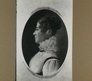 Portret van Jeanne Louise Banneman (1776-1821), getrouwd met van Frans van der Goes in 1797