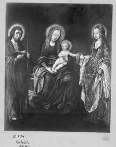 Maria met kind en twee heiligen