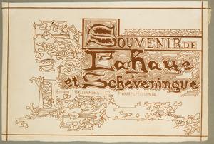 Ontwerp omslag 'Souvenirs de La Haye et Scheveninge'