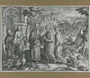 Melchisedek biedt Abraham brood en wijn aan (Genesis 14:17-24)