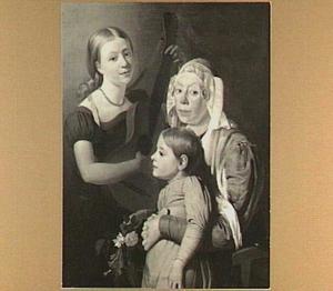 Portret van een Friese familie