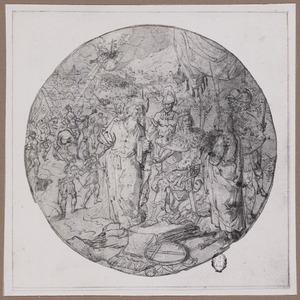 De H. Gallicanus luistert naar de H. Johannes en de H. Paulus