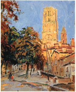 Toren van de kathedraal Sainte-Cécile in Albi