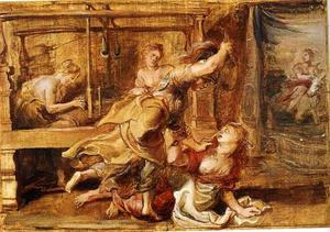 Arachne en Minerva ( Ovidius, Metamorfosen, VI, 129-132)
