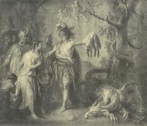 Jason geeft Medea het Gulden Vlies