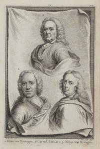Portretten van Elias van Nijmegen (1667-1755), Gerard Sanders (1702-1767) en Dionys van Nijmegen (1705-1798)
