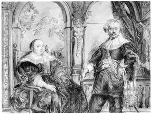 Portret van Govaert van Surpele (?) en zijn tweede vrouw Catharina Coninckx (?)