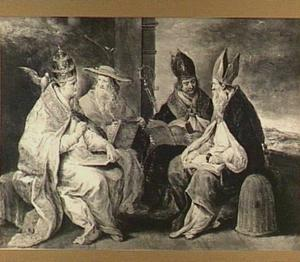 De vier westelijke kerkvaders Gregorius, Hiëronymus, Augustinus en Ambrosius