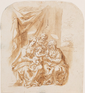 De heilige familie met Anna