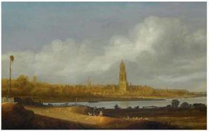 Weids rivierlandschap met zicht op Rhenen
