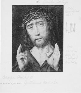 Christus als Man van Smarten met geheven handen