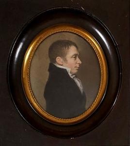 Portret van een man mogelijk Adriaan Isaac Snouck Hurgronje (1780-1849)