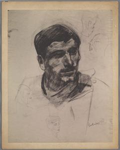 Studie van een Italiaanse beeldjeskoopman (model Rijksakademie, Amsterdam)