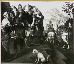 Tobias en zijn vrouw nemen afscheid van de ouders van de bruid (Tobias 10)