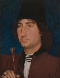 Portret van een man met een pijl