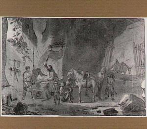 Een smidse in een grot