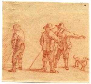 Drie boeren en een hond