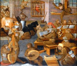 Musicerende apen