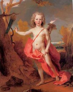 Kinderportret van John Bateman als cupido