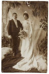 Portret van Charles Simon Lanen (1869-1945) en Alberta Maria Becht (1872-1942)