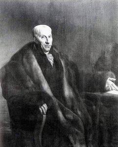 Portret van Gijsbert Karel van Hogendorp (1762-1834) met een borstbeeld van Willem de Zwijger (1533-1584)
