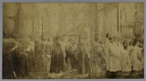 De processie van het Heilig Sacrament van Mirakel, middelste gedeelte