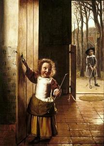 Twee kinderen die kolf spelen