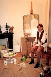 Emmy van den Blink in haar atelier in Utrecht