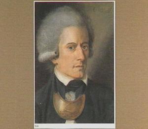 Portret van Cornelis Ascanius van Sypestein (1753-1797), met om zijn nek de insigne van de patriottengroep 'Pro Aris et Focis'