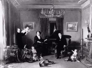 Portret van de familie van Karel Enthoven (1816-1895) en Henriette Polak Kerdijk (1827-1891)