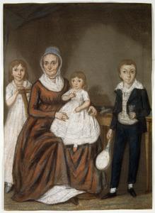 Portret van Syburgh Hendrika Royaards (1758-1829) met drie van haar kinderen