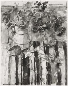Stilleven van bloemen in vaas
