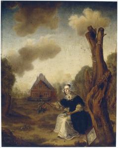 Portret van Maria Cornelisdr. Crap (?-1727)