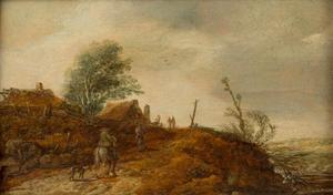 Landschap met boeren en boerderijen
