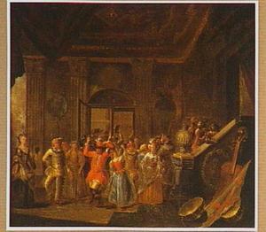 Gemaskerde bal in een paleis